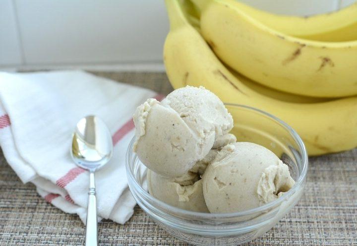 Helado de Banana libre de culpas